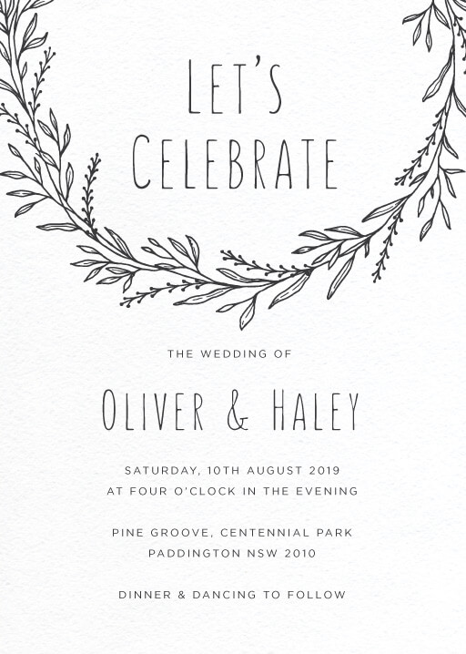 Blank Space - Wedding Invitations