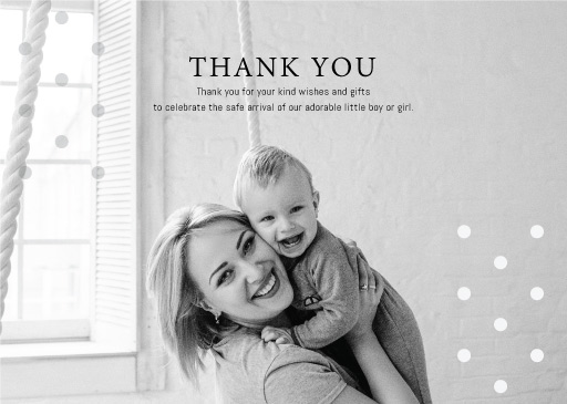 Moms Love - baby shower thank you cards