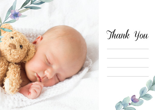 Little Baby - baby shower thank you cards