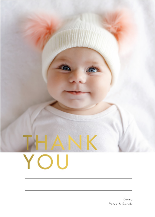 Joy Baby Joy - baby shower thank you cards