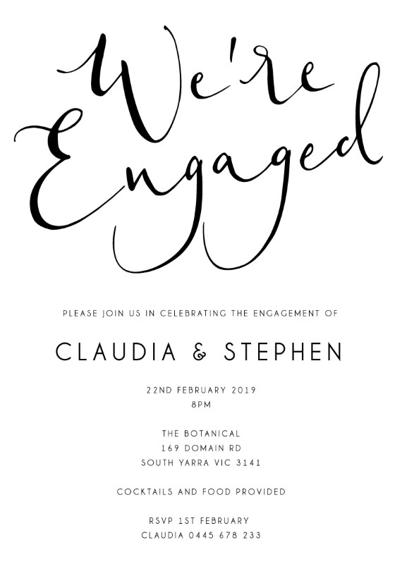 Ink and Nib - Engagement Invitations