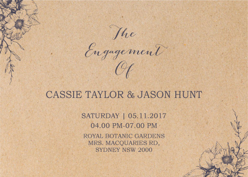 Chic n Rustic - Engagement Invitations