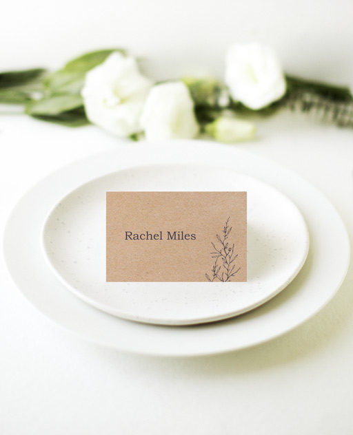 Chic n Rustic - Place Cards