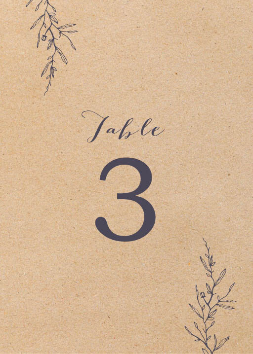 Chic n Rustic - table numbers