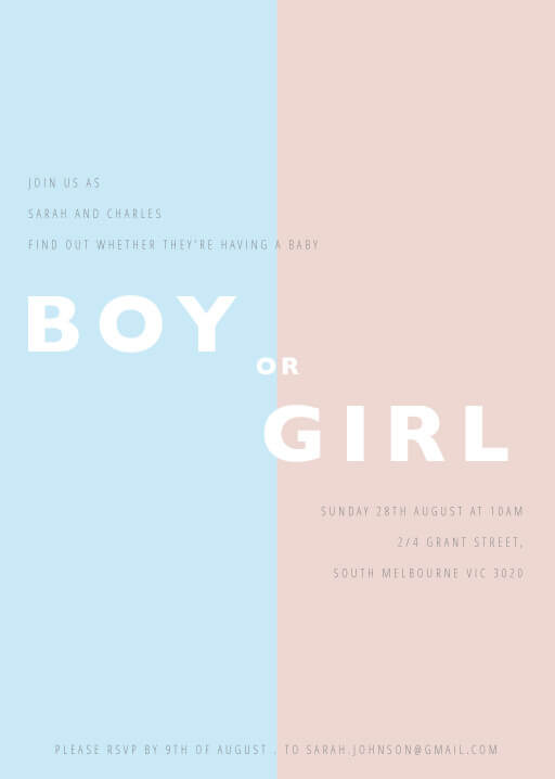 Boy or Girl - baby announcements