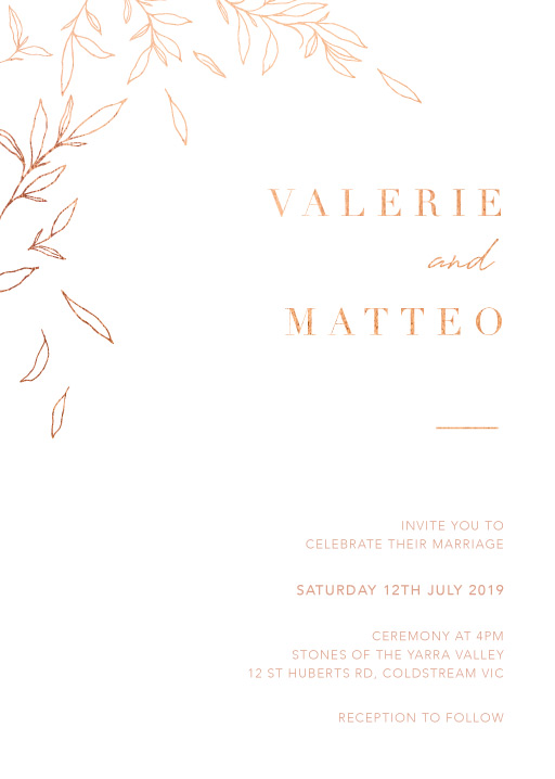 Modern Simplicity - Wedding Invitations