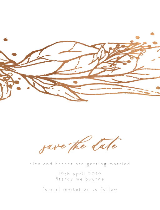 Copper Leaves - Save The Date