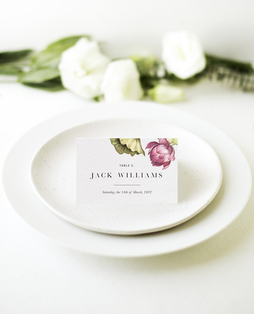 Tropical Oasis - Place Cards