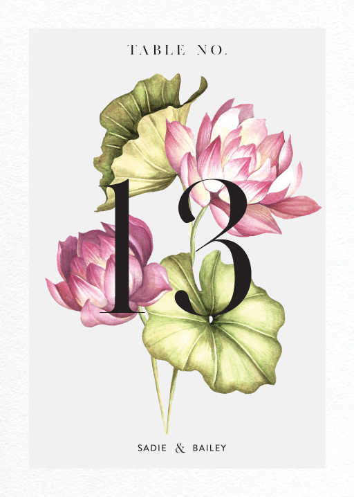 Tropical Oasis - table numbers