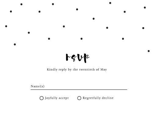 Dots - RSVP Cards