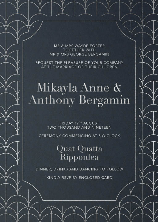 1920 - Wedding Invitations