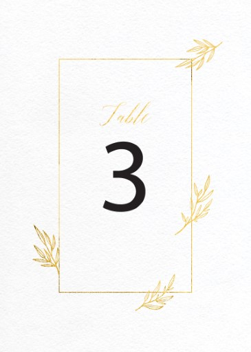 Athena's Crown - table numbers