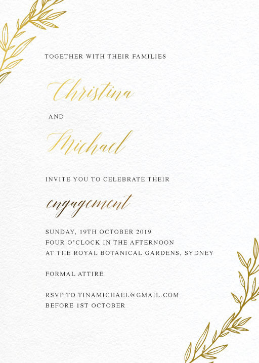 Athena's Crown - Engagement Invitations