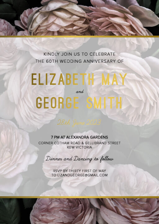Myrtle Gentry - Wedding Anniversary Invitations