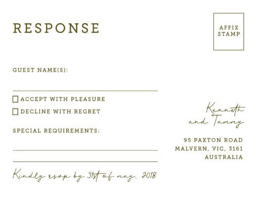 Hunting In Camo - RSVP Cards