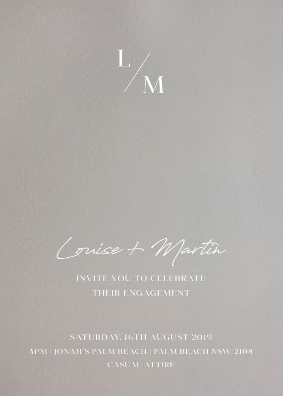 Adore - Engagement Invitations