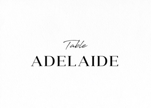 Adore - Table Numbers