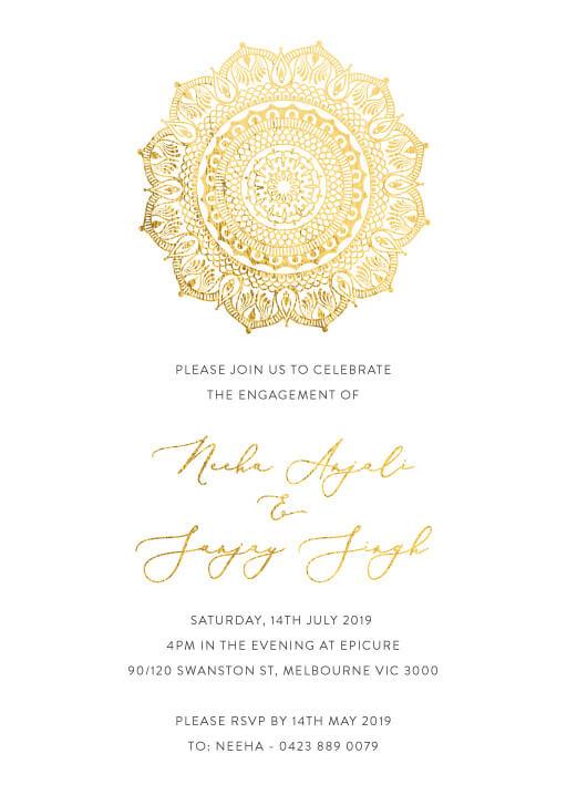 White Vivaha - Engagement Invitations