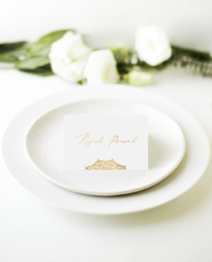 White Vivaha - Place Cards
