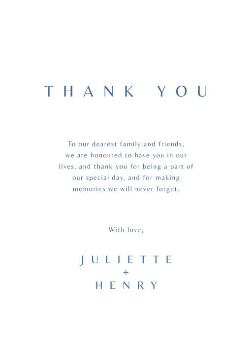 Deep Blue - Thank You Cards