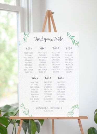 Leaf Wreath - Seating Charts