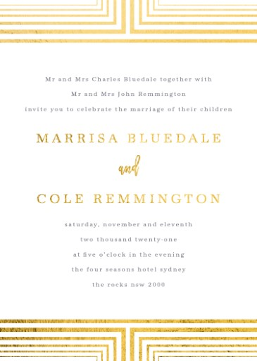 Borders on Borders - Wedding Invitations