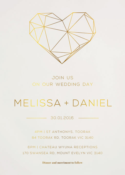 Diamond Love - wedding invitations