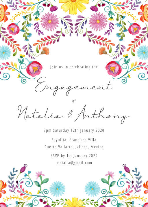 Fiesta de Bodas - Engagement Invitations