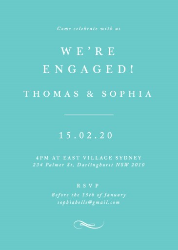 Fifth Avenue - Engagement Invitations