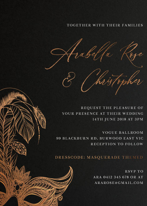 Masquerade - Wedding Invitations