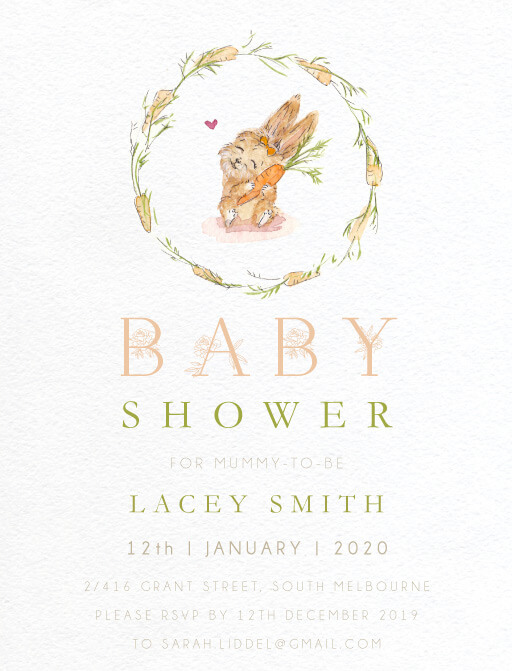 Sarulean - baby shower invitations