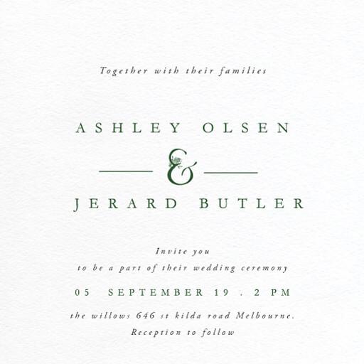Botanica - Wedding Invitations