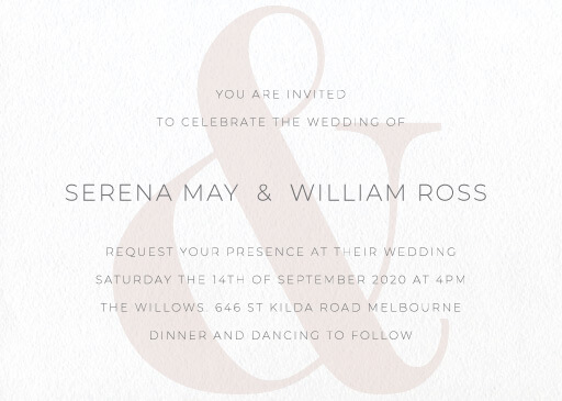 Elegant Type - Wedding Invitations