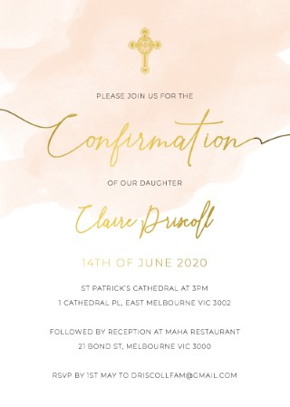 Rosey - Confirmation Invitations