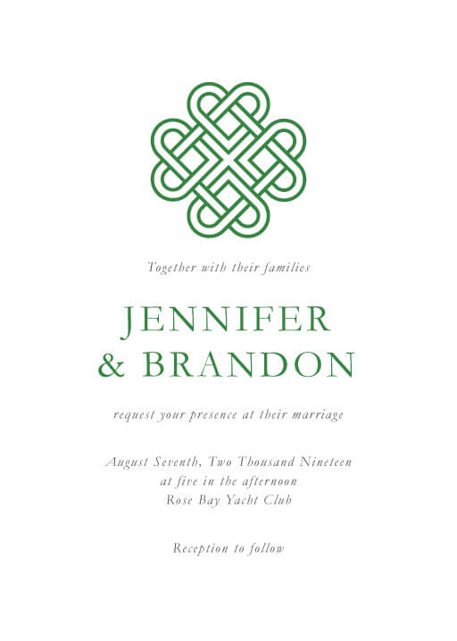 Celtic Love Knot - Wedding Invitations