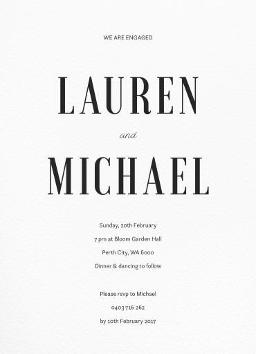 Paper Plane - Engagement Invitations
