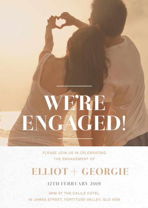 Aloha - Engagement Invitations