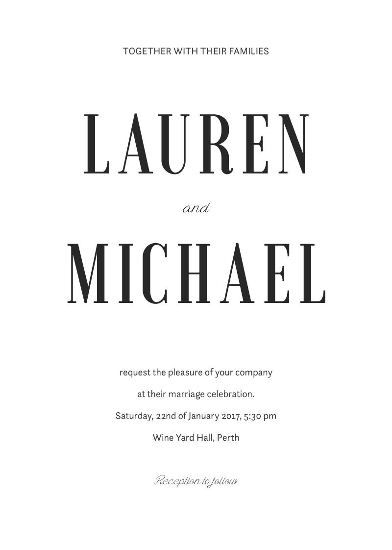 Paper Plane | Digital Printing | Wedding Invitations