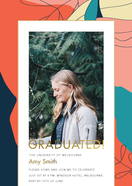 Abstract Graduation - Graduation Invitations & Announcements