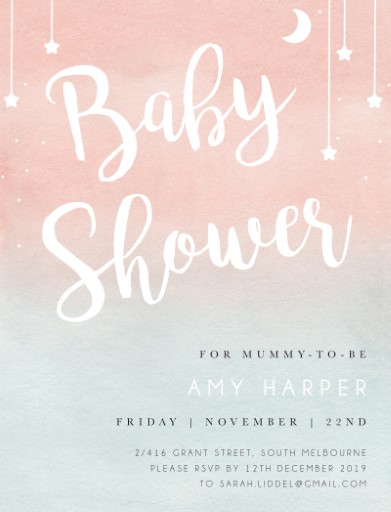 Tiny Cupcake - Baby Shower Invitations