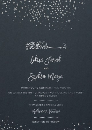 Under Stars - Wedding Invitations