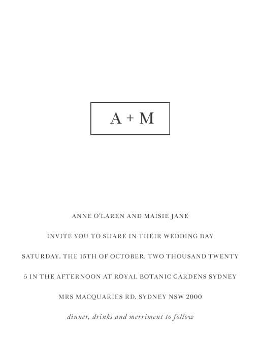 Memory Lane - Wedding Invitations