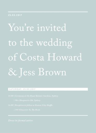 Cos - Invitations