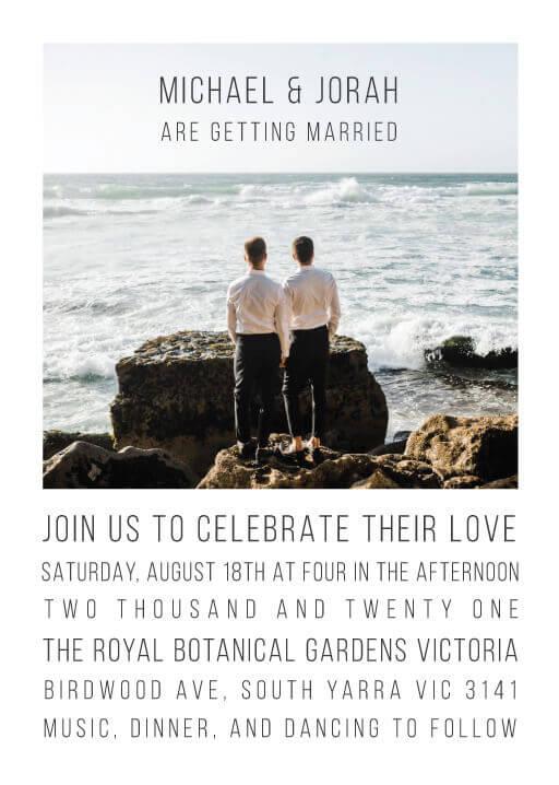 Beach Waves - wedding invitations
