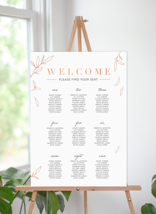 Modern Simplicity - Seating Charts