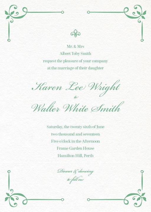 Vintage Cobalt - Invitations