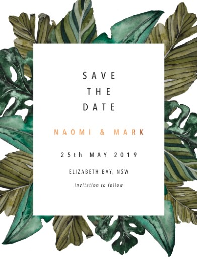 Moody Tropics - Save The Date