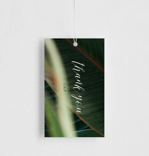 Tropical Leaves - Gift Tags