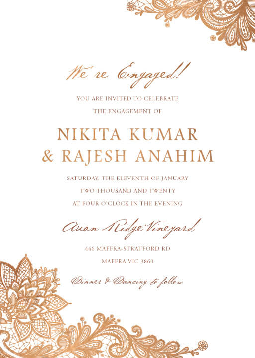 Tirumana Henna - Engagement Invitations