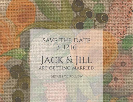Outback Bouquet - Save The Date